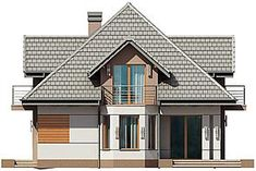 Projekt domu Śnieżka N 129,49 m2 - koszt budowy 220 tys. zł - EXTRADOM Home Fashion, House Plans, Cabin, Architecture, House Styles, Houses, Drink, Home Decor, Food