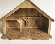 Vintage Wood Stable Nativity Creche Wooden Christmas Decor by on Etsy Christmas Crib Ideas, Wooden Christmas Crafts, Christmas Manger, Christmas Nativity Scene, Outdoor Christmas Decorations, Holiday Crafts, Christmas Diy, Nativity Creche, Nativity Stable