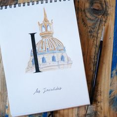 C'est le retour de l'abécédaire parisien avec le sublime dôme des Invalides pour la lettre I ~ It's our parisian alphabet come back with the magnificent Invalides   #abc_calligraphique #parisabecedaire #abecedaire Alphabet, 18th, Instagram Posts, Letter I, Italy, Travel, Alpha Bet