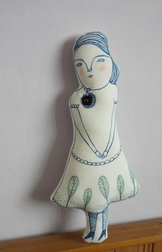 Melodie Stacey - Cloth doll hand drawn illustration doll by maidolls