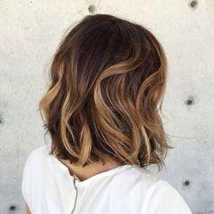 Mid-length hair style