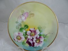 Vintage Hand Painted Poppy Plate by SecondWindShop on Etsy