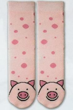 a8160043b6 K Bell Tubular Pig Slipper Sock is a Bright Pink Tube background with Rose  Pink small