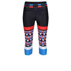Tight Leggings, Capri Leggings, Capri Pants, Workout Capris, Sports Luxe, Geometric Designs, Smiley, Tights, Retro