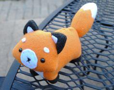 Fox Plushie MADE TO ORDER. $25.00, via Etsy.