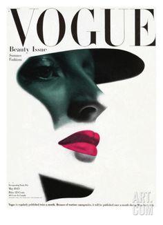 Art.fr - Regular Giclee Print 'Couverture du magazine Vogue, mai 1945' par Erwin Blumenfeld