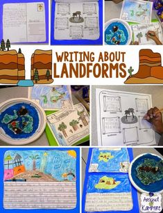 Writing About Landforms~ This was such a great project! We incorporated functional writing and wrote creative narratives about our imaginary landform islands!