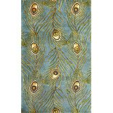 Found it at Wayfair - Catalina Blue Peacock Feathers Novelty Area Rug