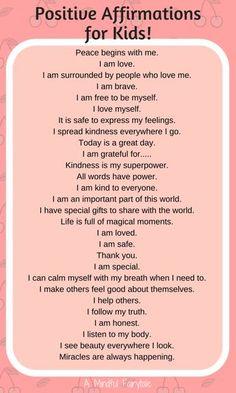 Positive+affirmations+for+kids!