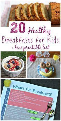 Make mornings easier with these great tips, healthy breakfast ideas for kids + FREE printable list!