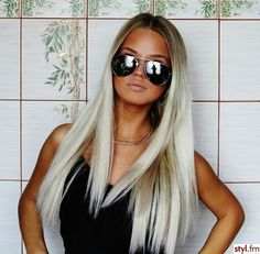 tan, blonde and aviators... always goes together well.