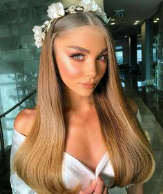 Discover these aesthetic natural makeup Pic# 3761 Bridal Makeup, Bridal Hair, Wedding Makeup, Hair Inspo, Hair Inspiration, Pretty Hairstyles, Wedding Hairstyles, Braut Make-up, Natural Makeup Looks