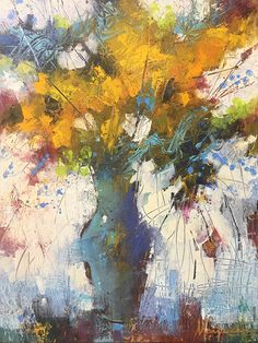 I think this is a good harmonious picture. Even thought he colors are different, the brush strokes and the overall feeling is similar. Abstract Canvas Art, Oil Painting Abstract, Farmhouse Paintings, Orange Painting, Still Life Art, Paintings I Love, Abstract Flowers, Painting Inspiration, Fine Art