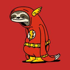 Drawing Superhero Check out this awesome 'Funny Sloth Shirt The Flash The Neutral' design on Drawing Cartoon Characters, Character Drawing, Cartoon Drawings, Cute Drawings, Cartoon Kunst, Cartoon Art, Art And Illustration, Flash Drawing, Sloth Shirt