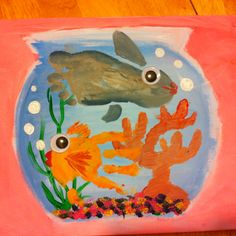 hand and foot print fish bowl by tami Kids Fathers Day Crafts, Crafts For Kids, Arts And Crafts, Toddler Crafts, Fingerprint Crafts, Footprint Crafts, Kids Prints, Foot Prints, Hand Prints