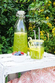 cold drinks for hot days: Basil-ginger-lemonade Ingwer-Basilikum-Limonade....so erfrischend und lecker!