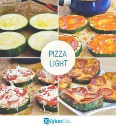 Substitua a massa de pizza por rodelas de abobrinha e deixe sua refeição mais leve.