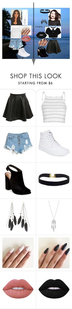 """Andrea and Angelina - Camp"" by socialrejectss on Polyvore featuring Pilot, Glamorous, Vans, Steve Madden, Charlotte Russe, Lucky Brand and Lime Crime"
