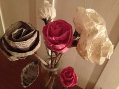 Paper Roses ~ tutorial