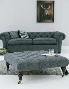 Manor Harris Tweed Chair In Granite | Chairs, Harris Tweed And Handmade