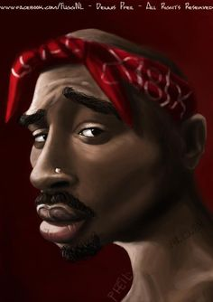 Tupac Caricature - By Dennis Pfeil facebook.com/FuggNL