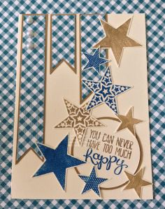 Sam Johnson, Stampin' Up! Independent Demonstrator  Simply Stars, Yippie Skippie, Pacific Point, Baked Brown Sugar