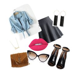 """""""Casual chic"""" by shauntehouston on Polyvore featuring Chicwish, Givenchy, Yves Saint Laurent, Cutler and Gross, Bebe, Lime Crime, Sydney Evan, Summer, Spring and fashionblogger"""