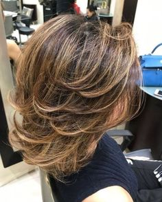 70 Brightest Medium Layered Haircuts to Light You Up - Medium Tousled Style With Layers - Medium Length Hair Cuts With Layers, Medium Hair Cuts, Medium Curly, Hair Styles For Medium Hair With Layers, Cool Haircuts, Cool Hairstyles, Black Hairstyles, Classic Hairstyles, Pixie Haircuts