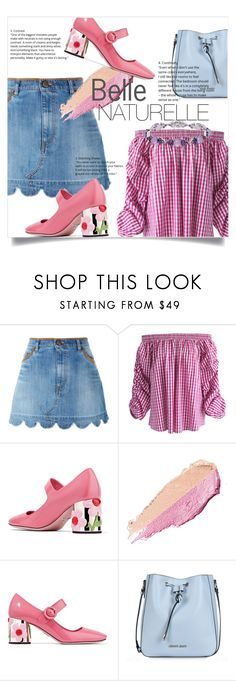 """""""Beauty"""" by la-belle-folie ❤ liked on Polyvore featuring RED Valentino, Chicwish, Prada, By Terry, Armani Jeans and Honora"""