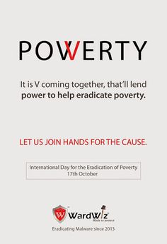 """We Buy, We Use and We Throw.  Some though can just never buy. On 'International Day for the Eradication of Poverty', let us pledge to share our joys with them. Help the needy. """"V"""" have the """"Power"""". #quotes #wardwiz #poverty eradication day"""