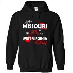 MISSOURI-WEST VIRGINIA Girl 06Red - #teeshirt #polo shirt. PURCHASE NOW => https://www.sunfrog.com/States/MISSOURI-2DWEST-VIRGINIA-Girl-06Red-Black-Hoodie.html?id=60505