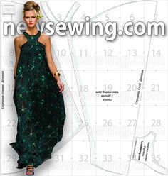 Long summer dress pattern in Russian, available in 4 sizes. Use google translate and when downloading use unibytes link