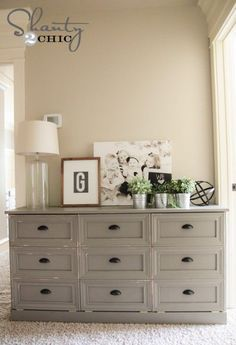 Laundry Hamper Dresser DIY - Thinking a 2-section version of this, where the one side is actual dresser drawers and the other is a laundry basket one for a toddler room