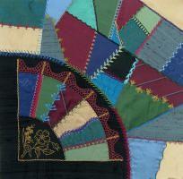 crazy quilt block - love this fan