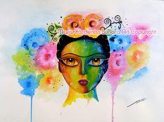 Beautiful Frida PRINT di Lunara shop su DaWanda.com