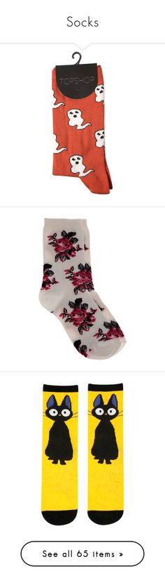 """Socks"" by x-star-dust-x ❤ liked on Polyvore featuring intimates, hosiery, socks, accessories, fillers, clothing - socks, shoes, women, patterned hosiery and orange ankle socks"