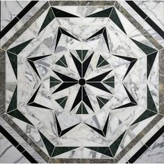Liaison Laurel mosaic in custom stone blend by Kelly Wearstler for Ann Sacks Marble Mosaic, Marble Floor, Stone Mosaic, Mosaic Tiles, Tiling, Tile Floor, Floor Patterns, Tile Patterns, Textures Patterns