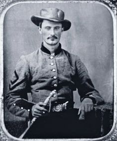 Marmaduke Marshall, Confederate Army Marshall, Orderly Sergeant of 17th Georgia Infantry; American Civil War, 1861-65; First Sergeant (later Captain) Marmaduke Marshall, Confederate Army Soldier (b/w photo), American Photographer, (19th century) / Private Collection / Peter Newark Military Pictures / The Bridgeman Art Library
