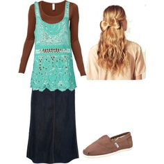 """;)"" by chattertongirl on Polyvore - LOVE tanks over shirts!"
