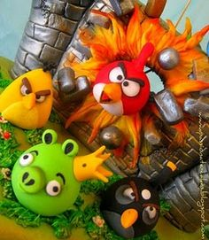 Angry Birds 3D cake