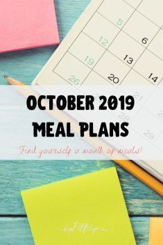 Monthly Menu and meal plan for the month of October. Includes great fall meal ideas and weeknight dinners. #mealplan #weeknightmeals #menuplan Leftover Potatoes, Leftover Pork, Frozen Garlic Bread, Swiss Steak Recipes, Caramelized Onion Dip, When School Starts, Salad Kits, Road Trip Food, Burger Night