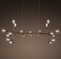 """Varick Chandelier Vintage Bronze Large - could be cool in """"The Library"""" - outfit with LED Edison bulbs.  $1350 -Restoration Hardware"""