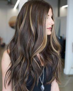 Subtle Blonde Balayage For Brown Hair
