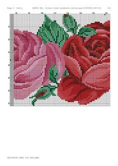 Geri Dönüşüm Projeleri Handicraft, Needlepoint, Cross Stitch, Rose, Pattern, Design, Charts, Bath Linens, Embroidered Towels