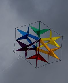 Apparently called a Crystal, this colorful cellular kite is a steady flyer. T.P. (my-best-kite.com)