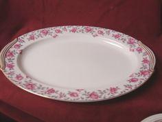 Noritake, China Dinnerware Rosewood pattern  Pink roses very Large Platter