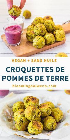 Vegan Lentil Potato Croquettes are a delicious high-protein vegan snack! The croquettes are healthy, gluten-free, oil-free and delicious! High Protein Vegan Recipes, Healthy Vegan Snacks, Vegan Appetizers, Vegan Keto, Vegan Dinner Recipes, Whole Food Recipes, Vegetarian Recipes, Healthy Recipes, Vegan Raw