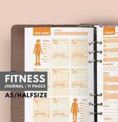 Fitness Journal A5 Filofax A5 einfügen Fitness von GetWellPlan