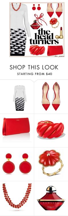 """""""Untitled #347"""" by betfashion ❤ liked on Polyvore featuring Rumour London, Gianvito Rossi, ESCADA, David Yurman, James Ganh, Bling Jewelry and Guerlain"""