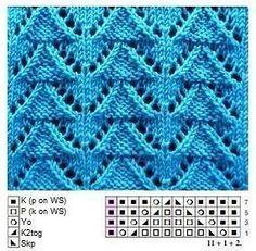 For vest or ruana - Knitting Patterns Knitting Machine Patterns, Knitting Stiches, Knitting Charts, Loom Knitting, Crochet Stitches, Baby Knitting, Lace Patterns, Stitch Patterns, Crochet Patterns